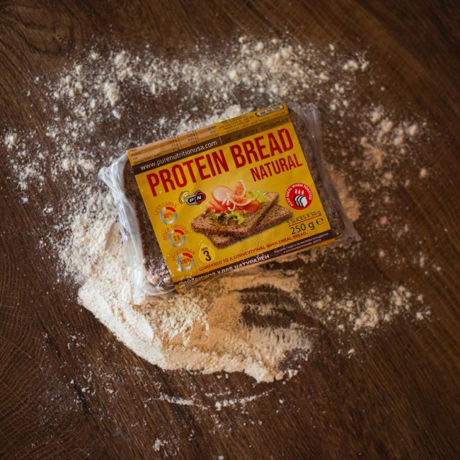 Photoshoot of Protein Bread - Pure Nutrition